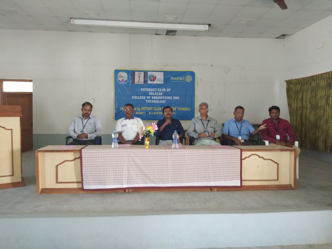Cancer Awareness programme at Vallla;ar Enginering College Erode