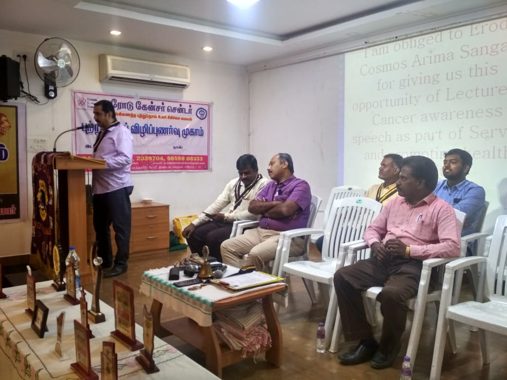 Cancer awareness program in Central Lions club, Veerappanpalayam (1)