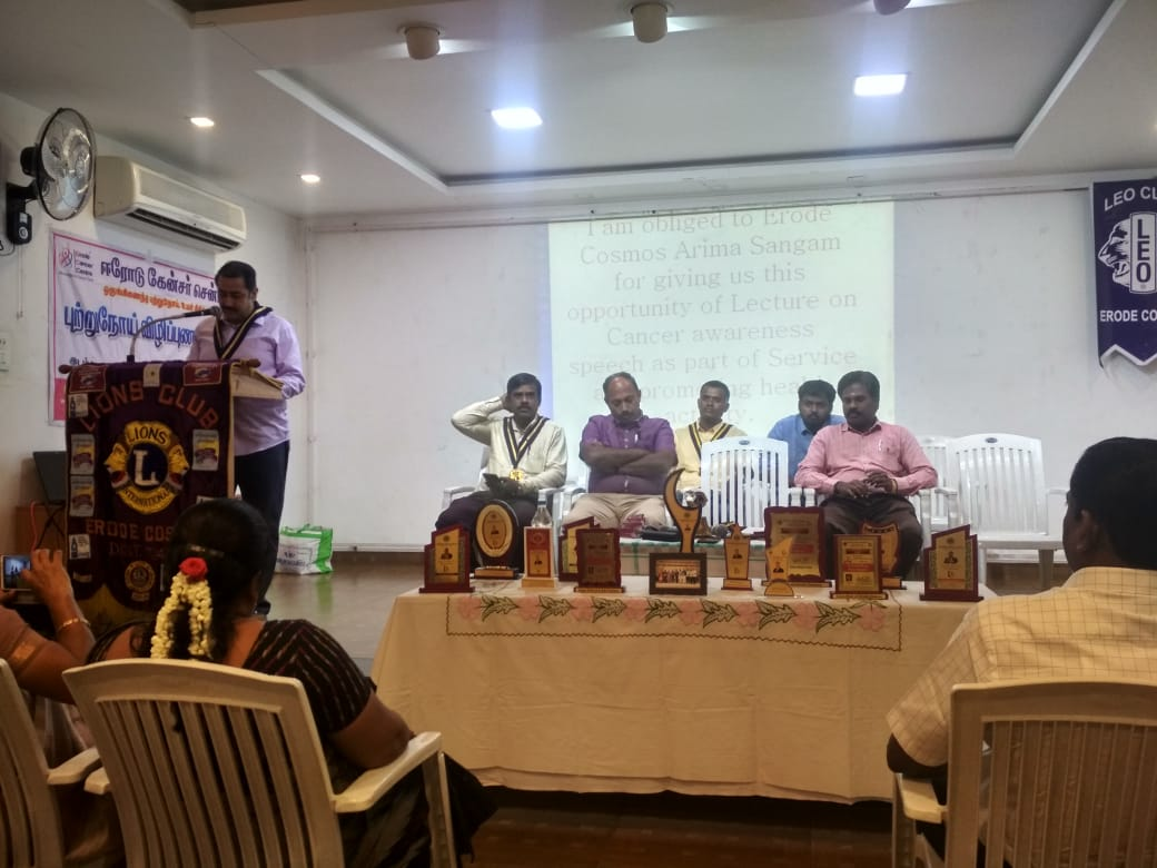 Cancer awareness program in Central Lions club, Veerappanpalayam (11)