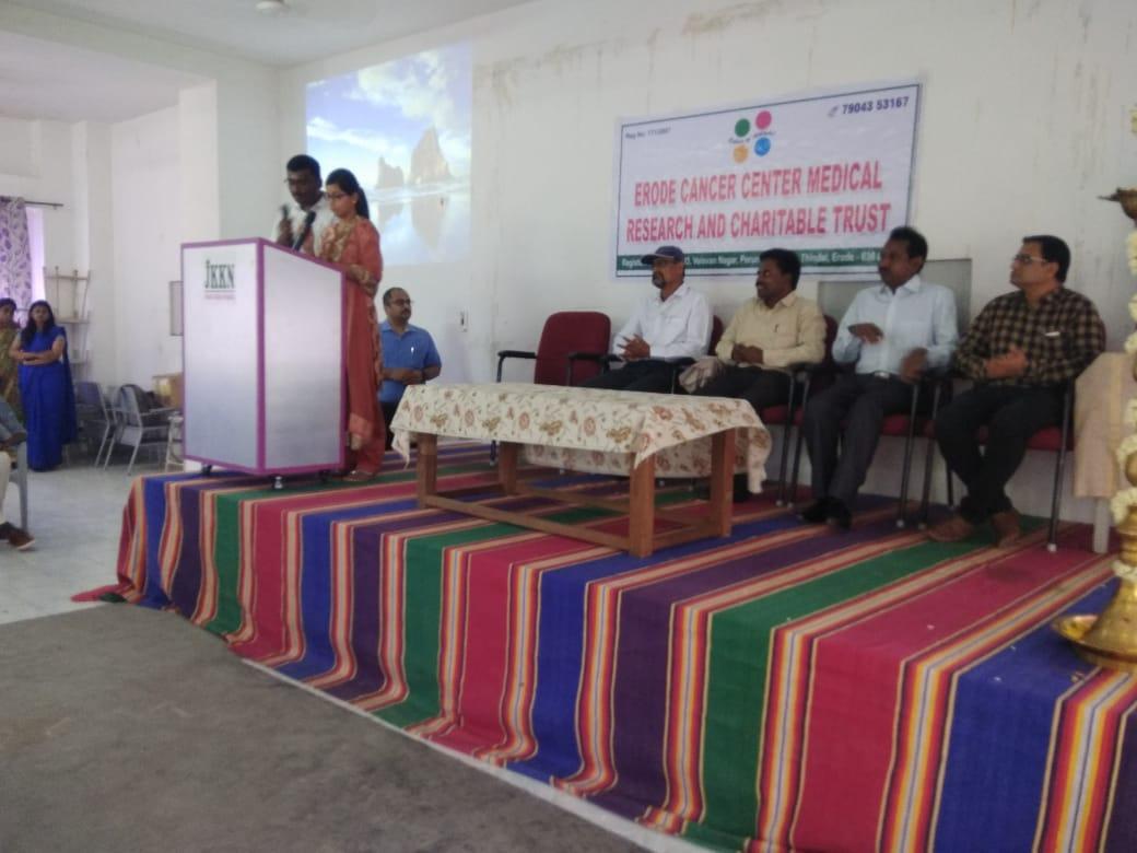 Awareness speech in JKK dental college