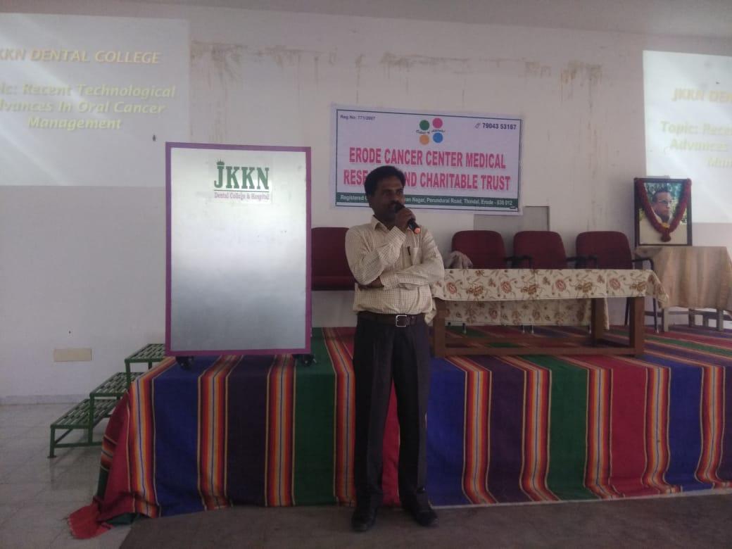 Awareness speech in JKK dental college6