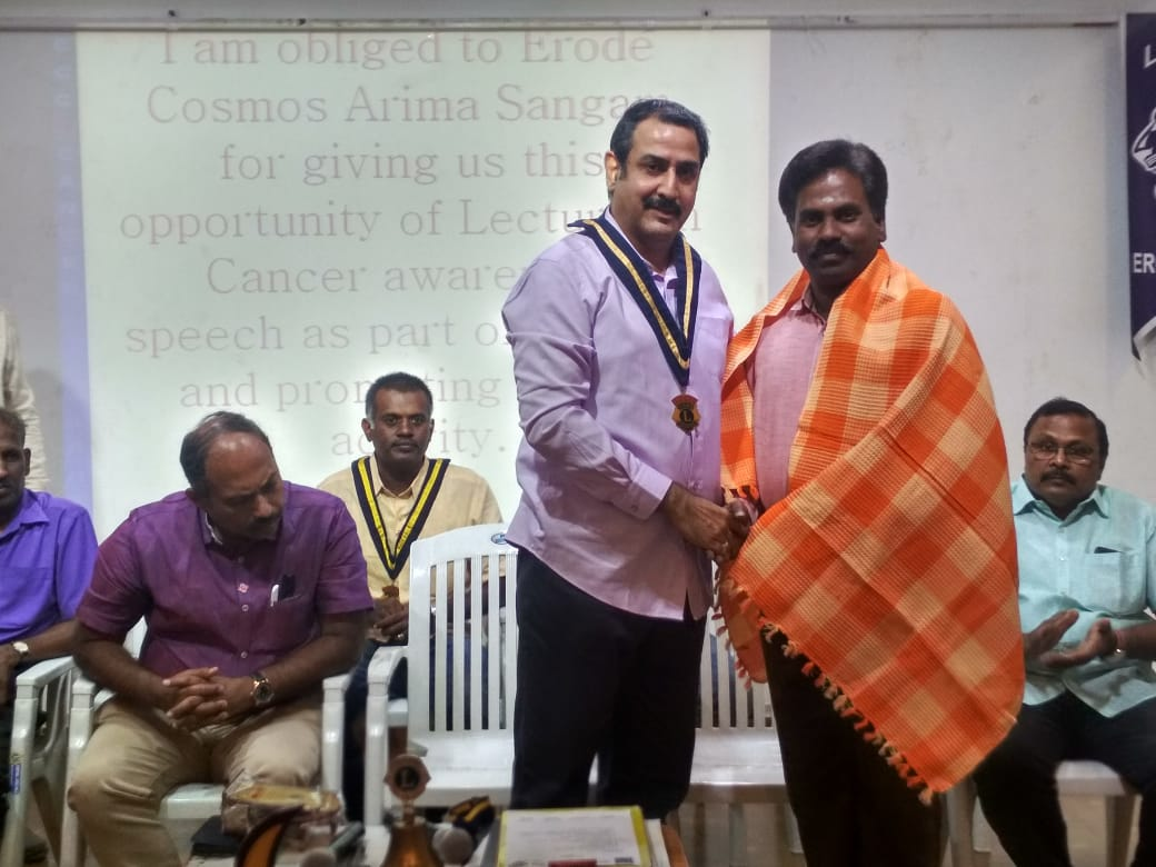 Cancer awareness program in Central Lions club, Veerappanpalayam (2)